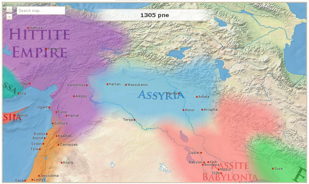 interaktywna mapa starożytnego świata