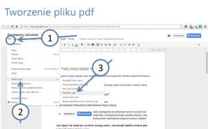 Tworzenie pliku pdf z dokumentu