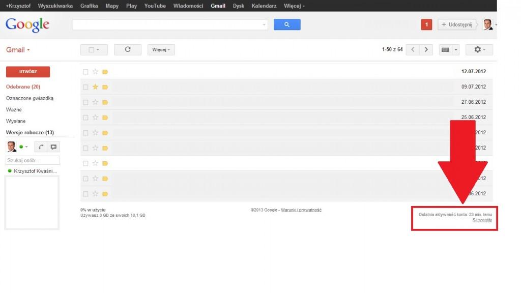 wylogowanie z gmail
