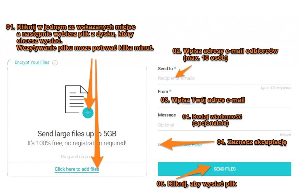 wysyłanie dużego pliku za pomocą usługi pcloud